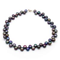 2018 joyas de perlas de agua dulce de la última moda collar de perlas de agua dulce con joyas de encanto femenino