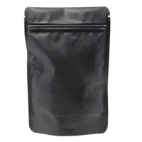 100 pcs Ziplock Pacote Sacos de Rasgar Lona Pura Folha De Alumínio Levante-se Snacks Pouch Zipper Reutilizável Pacote de Natal Sacos De Presente 10x15 cm