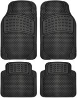 Car Floor Mats All Weather Rubber 4pc Set Semi Custom Fit He...
