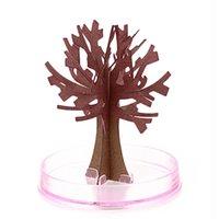17.5 * 22.5 cm Visual Magic Sztuczne Sakura Drzewa Dekoracyjne Narastające DIY Papier Drzewo Prezent Nowość Baby Toy Flower Drzewo Badania