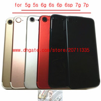 30pcs by DHL EMS Une qualité pour iphone 7 6 5s 5 6P 6SP 7 PLUS SE couverture arrière logement arrière couvercle de la batterie porte Pièces de remplacement