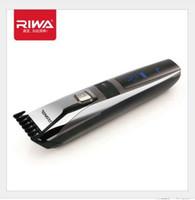 Neuer Haar-Trimmer-Klipper-Haarschnitt-Schneidemaschine LED-Anzeige waschbarer 3-22mm Kamm 100-240V Riwa K3