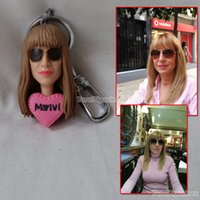 Turui Figurine personalizzato portachiavi personalizzato portachiavi portachiavi Personalizzato bobblehead unico bobble testa bambola divertente regalo femminile partito favore