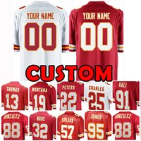 Custom Kansas City Jersey Chief 88 Tony Gonzalez 32 Spencer Ware 25 JAMAAL CHARLES 22 Peters 91 Hali 57 Говорит 95 Джонс 19 Монтана Томас 00