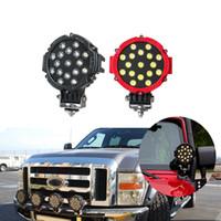 12Pcs 7Inch 51W Car LED lavoro Light Bar 12V rotonda Spot ad alta potenza per 4x4 Offroad Truck Trattore ATV SUV Jeep Guida Fendinebbia