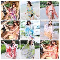 Pañuelo de playa Paisley Sarong Bufandas Mujeres Vestidos de verano Protección solar Bikini de impresión Ups Poncho Moda Wraps Sexy traje de baño Ropa de playa B3944