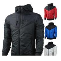 Wholesales -Sweatshirt Hoodie 남성 여성 윈드 브레이커 재킷 코트 긴 소매 가을 스포츠 지퍼 Windcheater 디자이너 망 의류