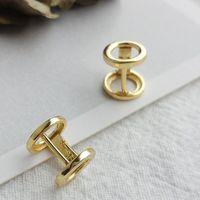 jóias S925 esterlina brincos de prata banhado a ouro 18K dumbbell brincos lábios ouvido para homens mulheres clássicas