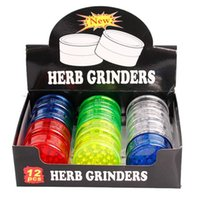 Dropshipping Herb grinders 3 layer plastic 60mm for smoke de...