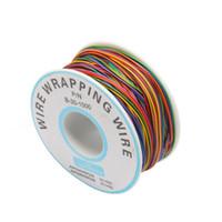 Eine Rolle 8 Farben Wire Wrapping Draht 30AWG verzinnt Kupfer Solide PVC-Isolierung Hohe Qualität OK-Draht-Elektronik-Linie