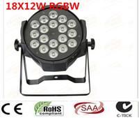 6pcs / lot, 18x12W par LED RGBW 4in1 Quad LED Par Can Par64 llevó el proyector de luz luz de la etapa de iluminación dj proyector de lavado