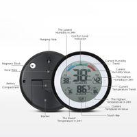 Freeshipping 다기능 디지털 온도계 습도계 온도계 습도계 시계 벽 최대 최소값 추세 디스플레이 C / Funit