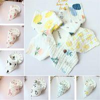 прекрасный ребенок нагрудники обед нагрудники / полотенце слюна детские дети младенцы 8 слоев марли отрыжка ткани T5I058