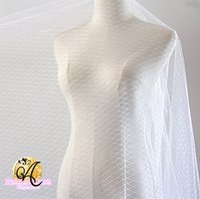nero griglia di modo di Tulle di nozze tessuto del vestito briglia velo di garza abbigliamento decorazione di materiali bianchi Accessori fai da te