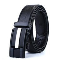 2018 Genuine Leather Belts For Men Automatic Male Belts Cummerbunds Leather Belt Men dropshipping Black 105cm-130cm