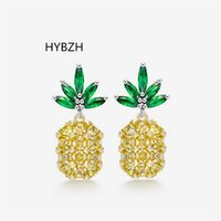 HYBZH Fashion three colors Pineapple Earrings Tropical Fruit...