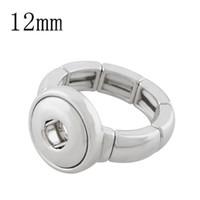 2018 mode femmes anneaux boutons-pression élastiques anneau 12mm boutons pression en métal bijoux mode pour femmes anneau pour hommes un sens bricolage