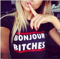 Yeni Kadın bonjour T-shirt Kısa Kollu Baskı T-shirt kadın Tees Rock-shirt Kadınlar Daha Iyi Camisetas y tops