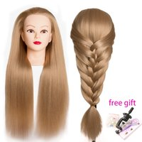 Professional 65cm hairdressing dolls head Female Mannequin H...