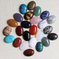Atacado de Alta Qualidade pedra Natural Oval CAB CABOCHON Lágrimas Beads DIY Jóias fazendo anel de presente de Feriado Frete grátis 18 * 25mm