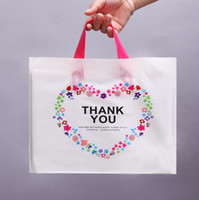 Plastic bags with handle Thank you Gift Packing Bags Birthda...