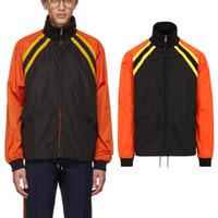 Lightwieght windbreaker Outerwear homens zíperes completos casaco de design de moda com cor de contraste jaquetas de venda quente masculino