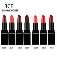 3CE Eunhye House Hydratant Noir Carré Tube Rouge À Lèvres Étanche Lèvres Cosmétiques Facile à Porter Sexy Rouge À Lèvres Mat