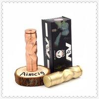 Retail Twisted Style AV Fast Gyre Mech Mod MOD Clone in ottone Rame E-sigaretta Mods Vape 510 Thread 24mm Meccanico APPACKET GRATIS