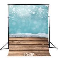 Świeży styl Fotografia backdrops płatki śniegu Drewniana podłoga stałe kolor tła dla fotografii Studio Baby Shower Nowy Born Baby