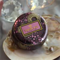La flor del té Caso vela de cristal del sostenedor de la novedad del dorado del estaño coloridos regalos de boda la caja del caramelo mini cajas de almacenamiento para los regalos de boda 2 6FL ZZ