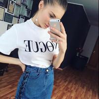 Örme Yeni Yaz T-Shirt Kadın Vogue Yüksek Pamuk Moda Kırmızı Mektup Baskı Rahat Triko Kısa Kollu Punk Tees Gömlek 3 Renkler