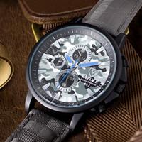 Мужчины армии военные повседневные спортивные часы кварцевые камуфляжные наручные часы мода PU кожаный ремешок тактики часы мужские камуфляжные часы Relogio