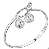 Luckyshine 6Pcs Unique Fire Two Balls 925 Sterling Silver Ba...