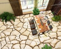 custom 3d wallpapers for living room pvc floor High-end marble pattern European Dry crack floor soundproofing 3d mural wallpaper