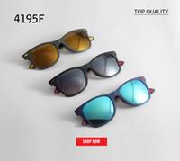RLEI DI Brand Design Hot 4195 flash Occhiali da sole Gentle Uomo Donna 2018 Tendenze Vintage Square Rays Neff Occhiali da sole Shades Oculos Fararii gafas