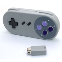 Беспроводной игровой контроллер для Super Nes Mnini Classic Edition Purple Button 2.4G Wireless Gamepads Receiver для SNES Mini Console