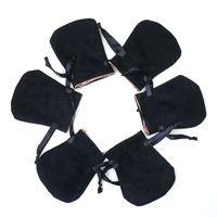 Черные бархатные ювелирные изделия сумка для пылезащитных мешков для Pandora Clarms Beads Подвески Bracelets и ожерелья DIY ювелирные изделия