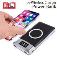 2 in 1 Qi Wireless Power Bank 10000 mAh Portable Wireless Ch...