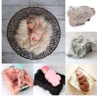 Neugeborene Fotografie Requisiten weiche Baby Fell Decken Kunstpelz Hintergrund Decken Cute Infant Kids Fotografia De Baby Fotografia