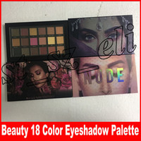 New 18 Colors Eyeshadow Palette Rose Gold remasterted Textur...