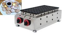 Ticari 50 delik lpg gaz hollandalı gözleme makinesi üreticisi mini poffertjes ızgara demir fırın ocak ekipmanları plaka pişirme kalıp LLFA