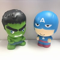 Hot Marvel Super Hero 11cm Kawaii Squishy giocattolo Hulk / Spiderman / Ferro Slow Rising Squishies PU Profumato giocattolo a rilievo di compressione