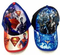 3d690686060 10pcs Superhero Superman Batman mix boy girl Fashion Sun Hat Cloth cap  Casual Cosplay Baseball Cap gifts W-8