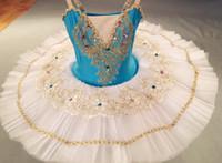 Tutú del ballet vestidos de adultos profesionales Gimnasia Leotardo Swan Lake ropa de baile para niñas crepe vestido de los niños de la bailarina