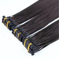 Bestseller Produkte Hohe Qualität Fast 6D Remy Vorgebundene Menschenhaarverlängerungen, Mikroringverlängerungen, 6D-Haarverlängerungen