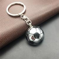 축구 금속 열쇠 고리 크리 에이 티브 축구 모양 키 버클 러시아 월드컵 키 체인 도착 2 5mm C