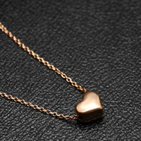 Popular Simple Style Gold Heart Chain Necklace Pendant for W...