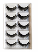 2018New 5pairs  box Black Natural Cross Fake False Eyelash S...