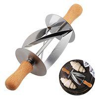 Acier Inoxydable Rouleau Cutter Pour Faire Croissant Pain Roue Pâte À Pâtisserie Couteau Manche En Bois Cuisson Cuisine Couteau Outil