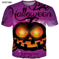 YFFUSHI 2018 Nueva Plus Size 3D Camiseta Hombres Hip Hop camiseta Halloween Cool Full Print Divertido Streetwear Moda Cartoon Top